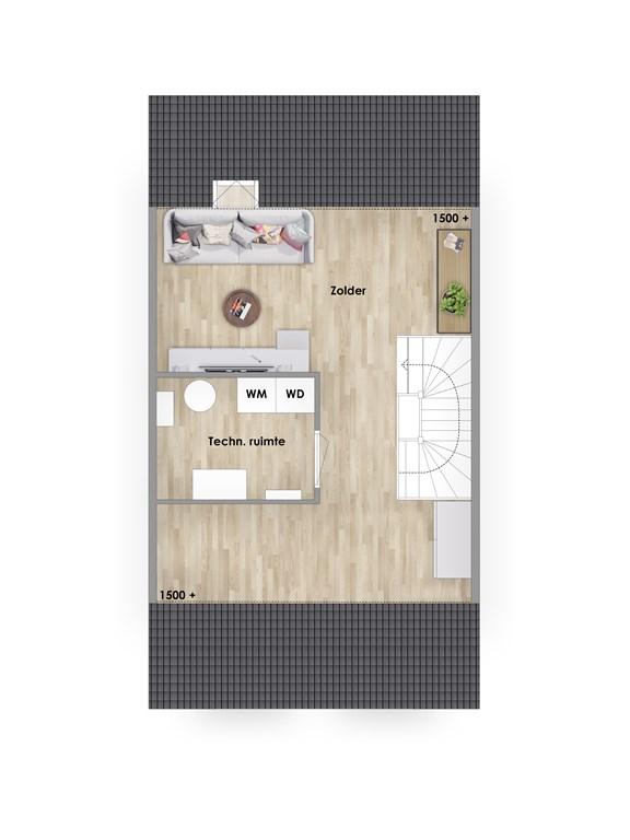 2e verdieping hoekwoning